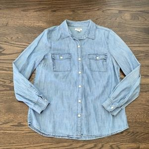 Old navy denim button down shirt